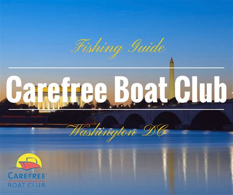boat club dc guide to fishing in dc carefree boat club