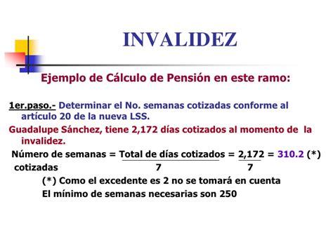 calculo de la pension imss re gimen obligatorio del seguro social