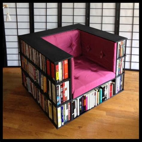 Bookshelf Chair by 16 Awesome Space Saving Products That Just Make Sense