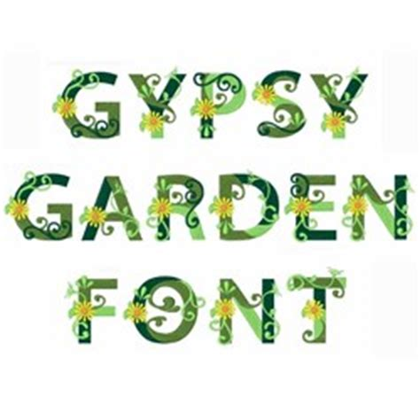Garden Font by Great Notions Home Format Fonts Embroidery Fonts