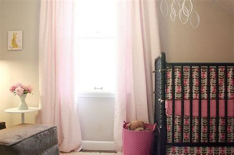 Pink And Brown Curtains For Nursery Beige Walls Transitional Nursery Behr Wheat Bread It Lovely