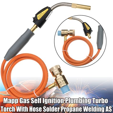 Solder Gas By Obd2 mapp gas self ignition plumbing turbo torch with hose