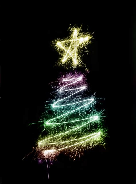 photo of sparkling christmas tree free christmas images