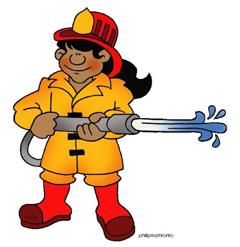 firefighter clipart fireman clip black and white clipart panda free
