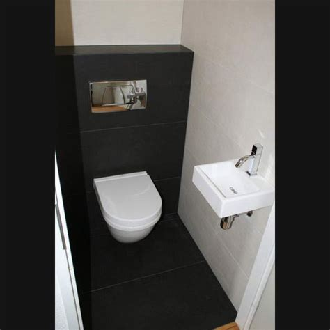 Bathroom Ideas For Men toilet idee maar dan tegel grijs wasbak zoetsteenzwart