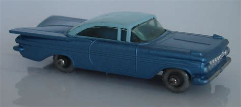 matchbox chevy impala matchbox lesney 57b3 chevrolet impala metalic blue with