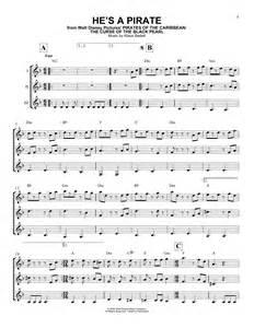 pirate sheet music klaus badelt guitar ensemble 165771