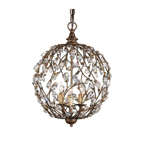 Pendant Light With Crystals Country Style Vintage Branch Pendant Light