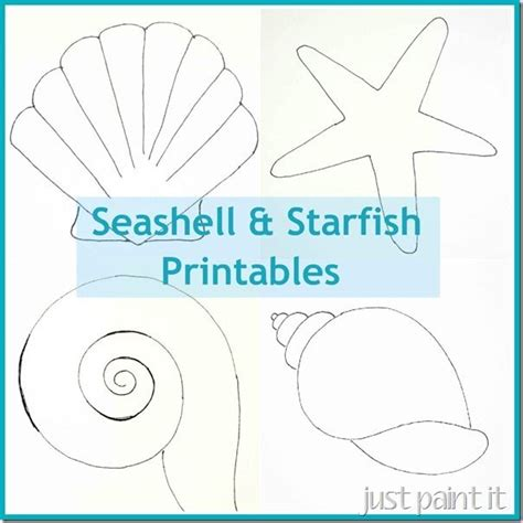Printable Seaside Templates | free seashell and starfish printable patterns for painting