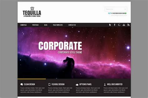 theme wordpress quill tequilla is a free portfolio wordpress theme by joolu