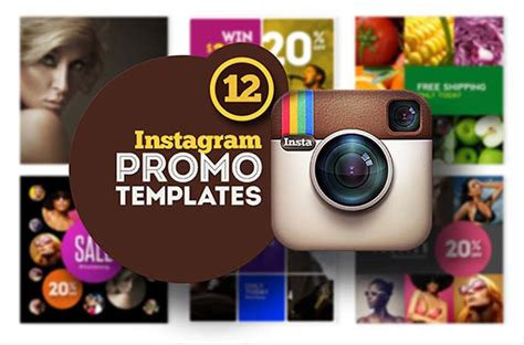 30 Best Photoshop Collage Templates Instagram Promo Template