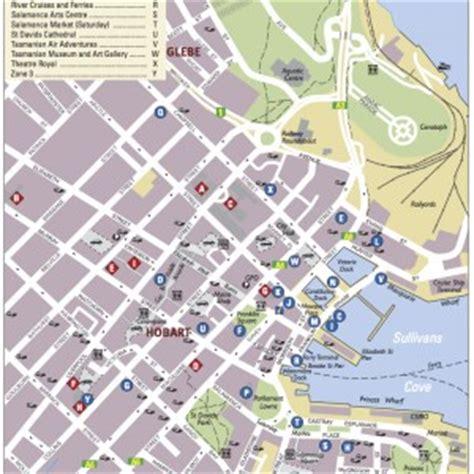 map of hobart city celebrating the 2014 international australian studies