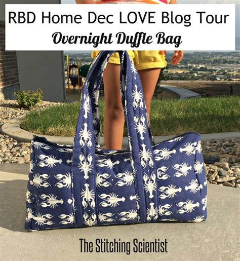free pattern overnight bag riley blake designs home dec blog tour free pattern