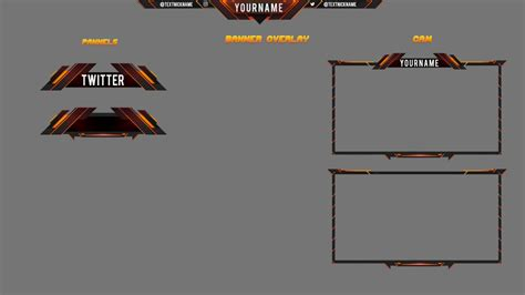 template free twitch overlay 8 by ayzs on deviantart