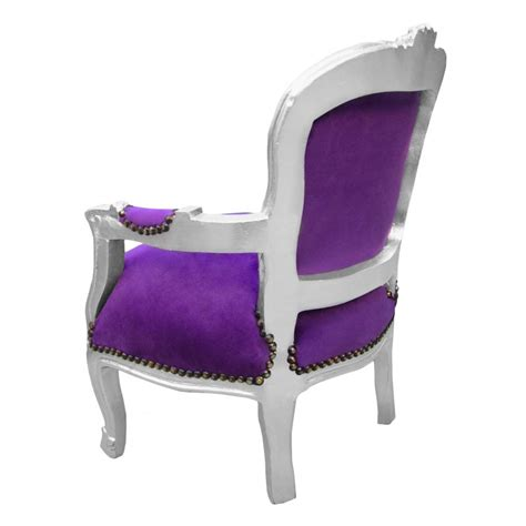 purple velvet armchair armchair for child purple velvet and silver wood