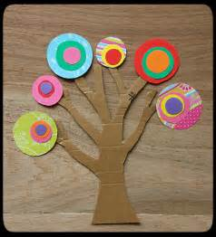 Paper Tree Craft - kandinsky tree winter
