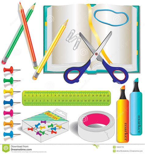 colorful office school supplies royalty free stock image colorful stationery school supplies royalty free stock