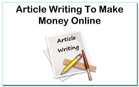 How To Make Money Writing Online Articles - writing articles to make money online marketing and search engine o