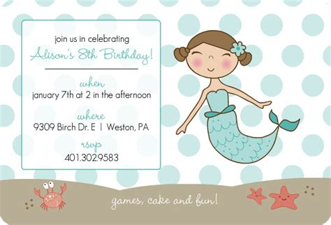 8 best images of free printable mermaid invitation