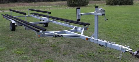 pontoon boat trailer hitch genesis pontoon float on bunk trailers northern boat