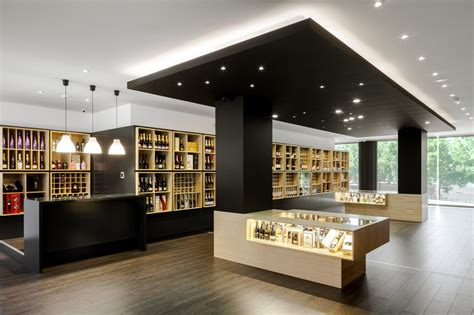 wine store design in portugal stylishly exhibiting a