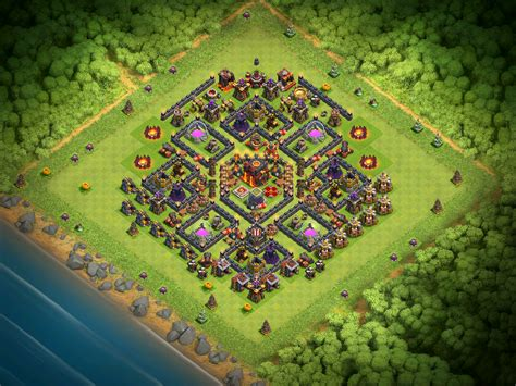coc village layout th10 best town hall 10 base design for december 2016 clash