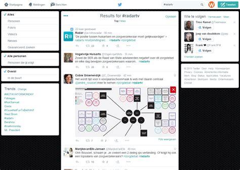 nieuwe layout twitter twitter rolt nieuwe layout uit voor pagina met