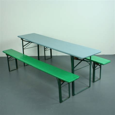 german beer table and bench vintage german beer table and benches painted lovely and