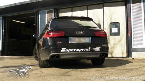 Audi S6 4 0 T by Audi S6 C7 Typ 4g 4 0 V8 T Supersprint Exhaust Sound