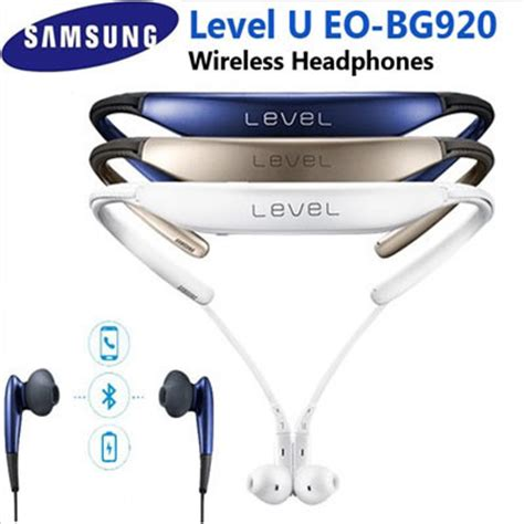 samsung u level qoo10 samsung samsung new level u wireless bluetooth headphones eo bg920 mobile devices