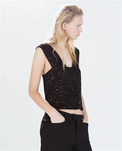 Fashion Zara 1 A 2 Top N 1 zara sequined tank top 29 pieces that prove it s never