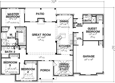 Single Floor 4 Bedroom House Plans | 4 bedroom single story house plans dream home