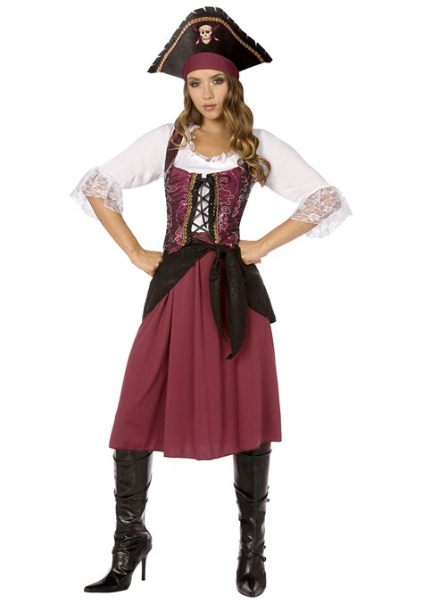 Handmade Costumes For Sale - burgundy pirate wench costume