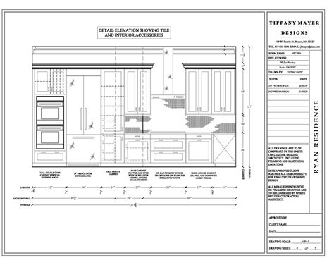 elevation drawings cabinet detail drawing size interior