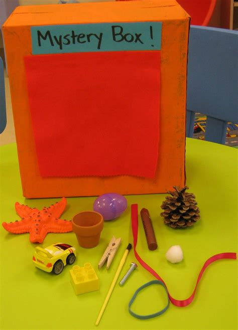 box ideas for kindergarten mystery box let feel objects describe them them