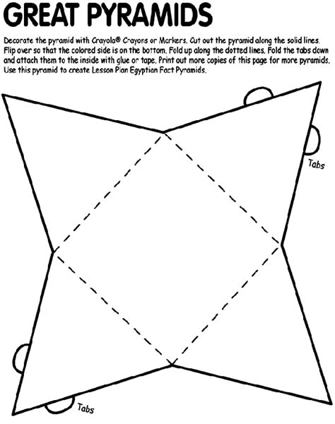 How To Make Pyramids Out Of Paper - great pyramids coloring page crayola