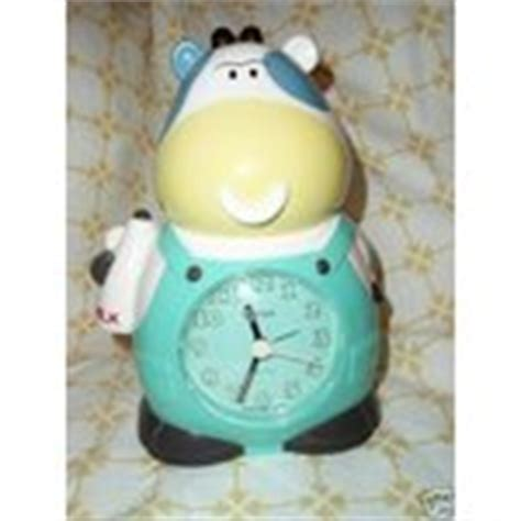 vintage rhythm quot speaking cow quot alarm clock excellnt cond 04 14 2008
