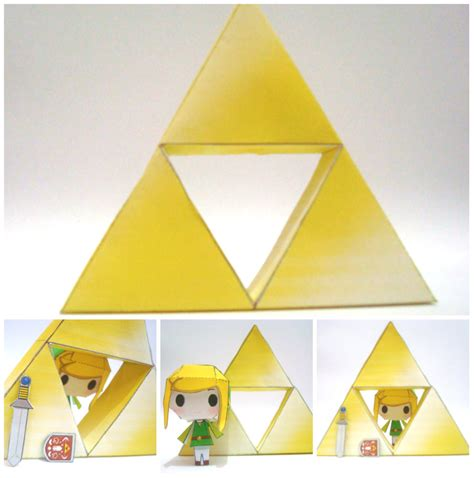 Triforce Papercraft - triforce papercraft by 8inch on deviantart