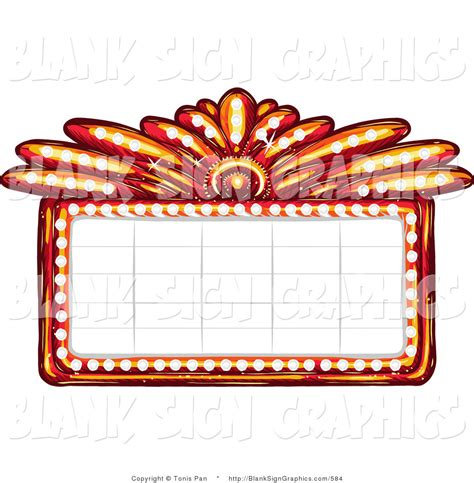 marquee sign marquee clipart vector illustration of a blank casino or theater marquee sign by tonis pan 584