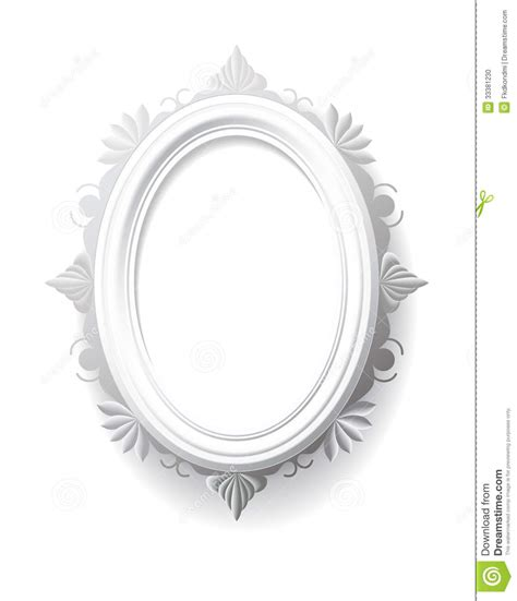 Vintage Oval White vintage oval frame stock photo image 33381230