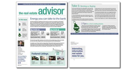 real estate newsletter templates real estate advisor newsletter template issue 4