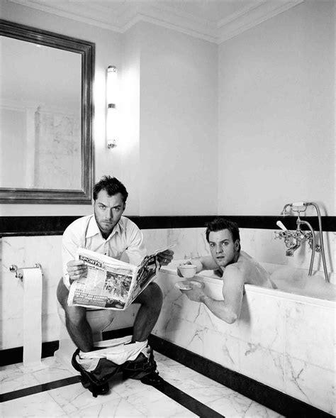 bathroom y movie lorenzo agius jude and ewan in the bathroom