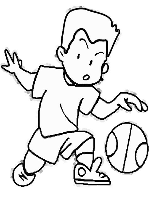 basketball scoreboard coloring pages cartoon girl playing basketball