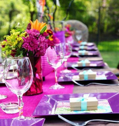 Backyard Birthday Decoration Ideas D 233 Coration Table Anniversaire 50 Propositions Pour L 233 T 233