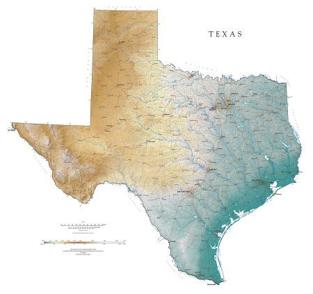 elevation map texas texas elevation map my