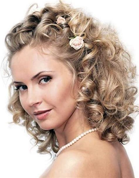 hairstyles that can be worn curly wedding hairstyles for medium hair