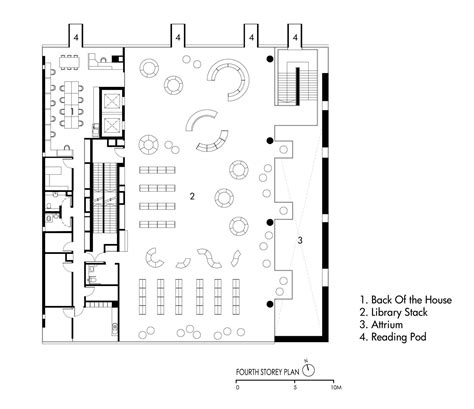 floor plan of a library gallery of bishan public library look architects 16