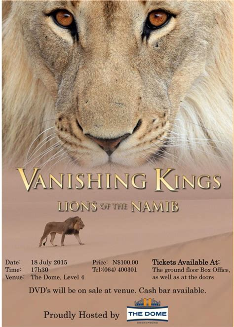 libro the vanishing man in der dokumentar und tierfilm vanishing kings hat am 18 07 2015 in windhoek premiere