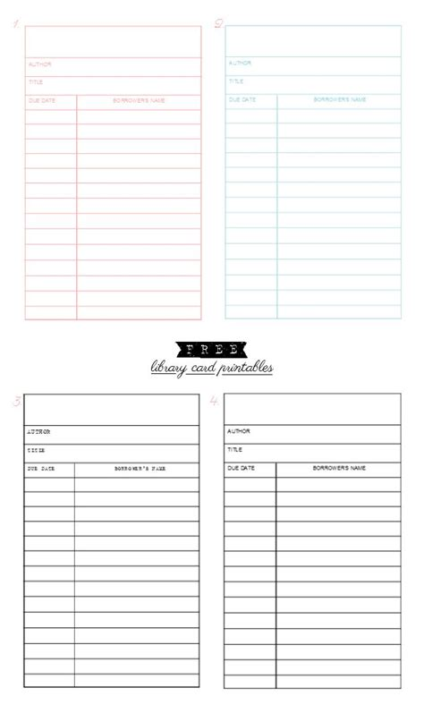 printable library cards template 1743 best free printables images on free