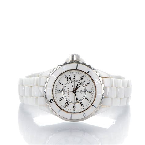 Chanel Ceramic White chanel ceramic 33mm j12 quartz white 140629